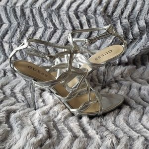 Guess. Metallic Strappy Caged Sandal